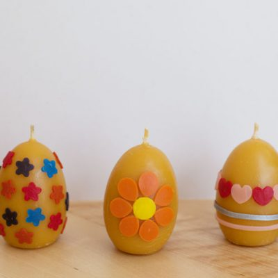 Decorate Beeswax Eggs for Easter