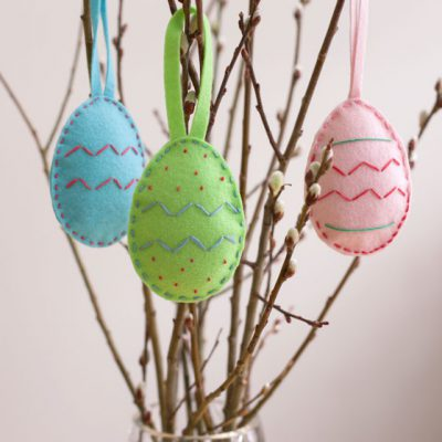 Sew Felt Easter Eggs