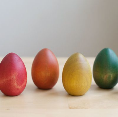 Paint a Rainbow of Wooden Easter Eggs