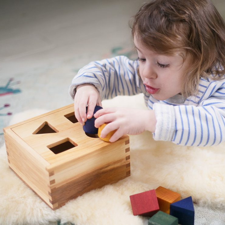 Nova Natural Wood Shape Sorter Colors